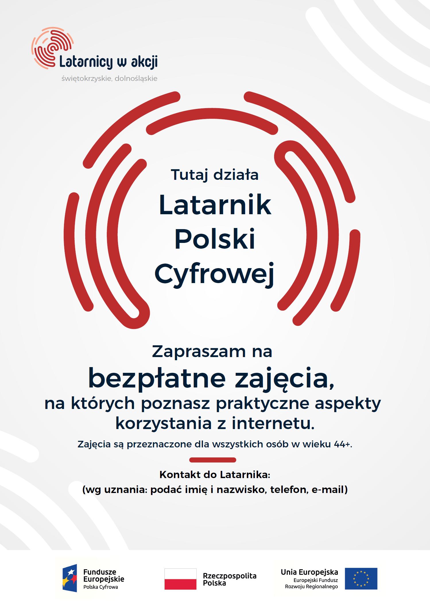Zaproszenie na bezpłatne szkolenie nauki korzystania z internetu