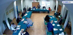zdjęcie z sesji Rady Gminy Mietków