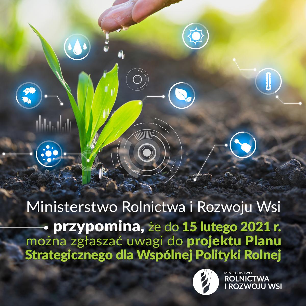 Plakat projektu Planu Strategicznego dla Wspólnej Polityki Rolnej