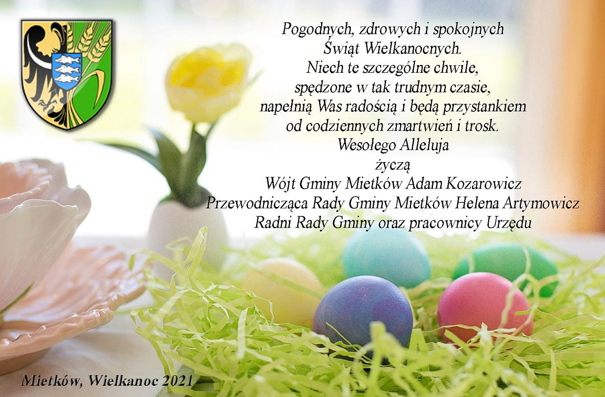 Kartka Wielkanocja Mietków 2021
