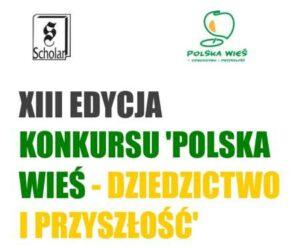 """logo konkursu """"Polska wieś dziedzictw o i przyszłość"""""""