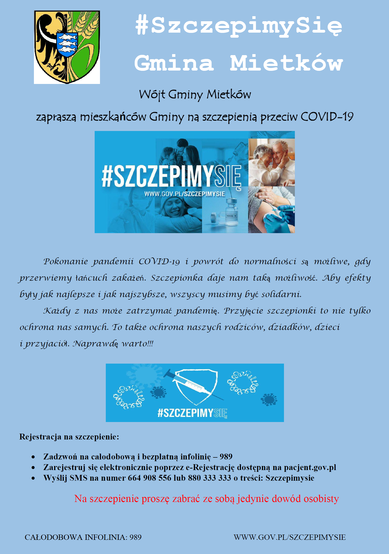 Plakat promujący szczepienia Covid-19